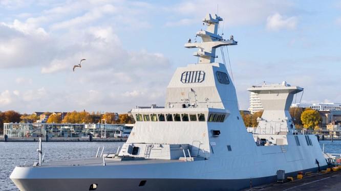 Tàu INS Margen, lớp Sa'ar 6, của Israel (Ảnh: Defense News)