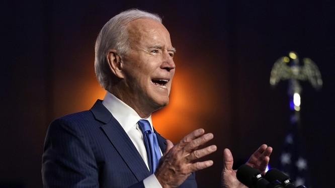 Ông Joe Biden có bài phát biểu tại Delaware (Ảnh: CNN)