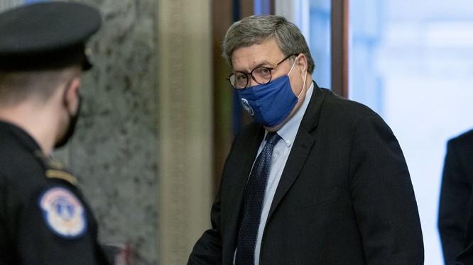 Tổng chưởng lý William Barr cho phép công tố viên điều tra các cáo buộc gian lận bầu cử (Ảnh: WSJ)