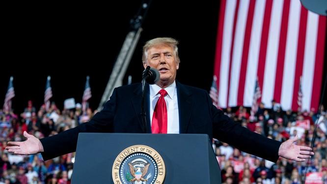 Tổng thống Trump đến bang Georgia vận động cho các nghị sĩ đảng Cộng hòa (Ảnh: NYTimes)