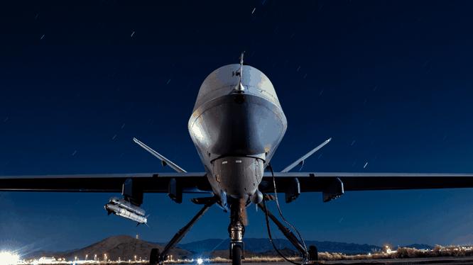 MQ-9 Reaper được trang bị tên lửa AIM-9X tại căn cứ không quân Creech ở Nevada, Mỹ (Ảnh: Asia Times)