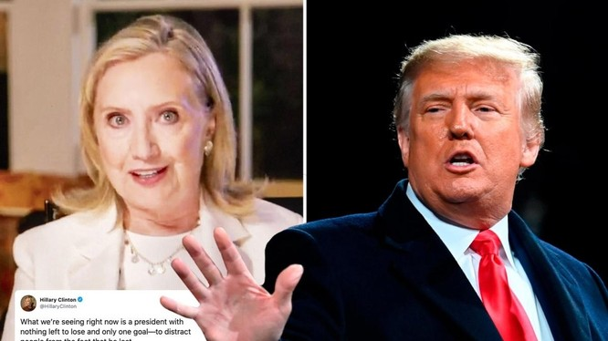 """Bà Clinton nói ông Trump là vị Tổng thống """"không còn gì để mất"""" (Ảnh: The Sun)"""