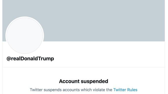 Tài khoản Twitter của ông Trump bị cấm vĩnh viễn (Ảnh: Twitter)