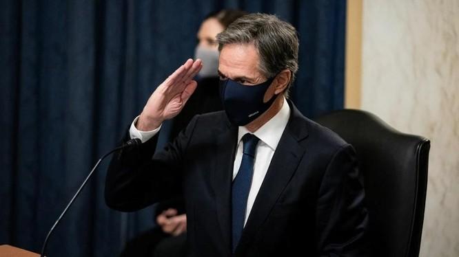 Anthony Blinken, ứng viên Ngoại trưởng Mỹ, trong phiên điều trần trước Ủy ban Đối ngoại Thượng viện Mỹ ngày 19/1 (Ảnh: Reuters)