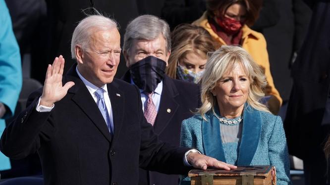 Ông Joe Biden tuyên thệ nhậm chức Tổng thống Mỹ vào trưa ngày 20/1 giờ địa phương (Ảnh: CNN)