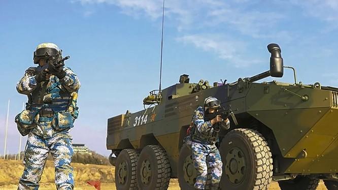 Quân đội Trung Quốc tập trung vào huấn luyện tác chiến chung giữa các lực lượng (Ảnh: Handout)