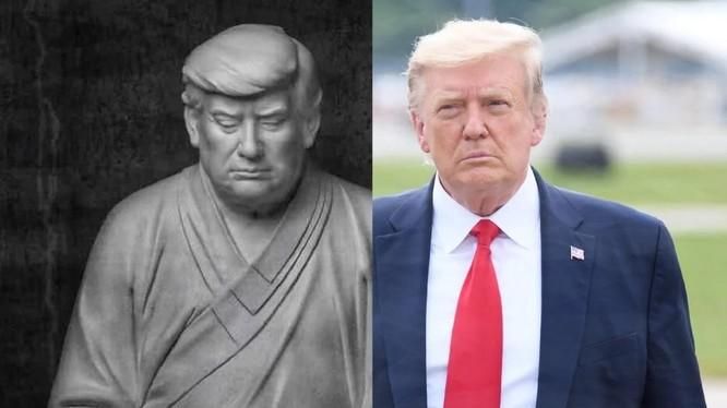 """Bức tượng ông Trump là món hàng """"hot"""" trên các nền tảng bán hàng trực tuyến Trung Quốc (Ảnh: SCMP)"""