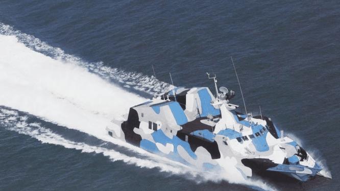Tàu tên lửa Type 022 của quân đội Trung Quốc (Ảnh: Handout)