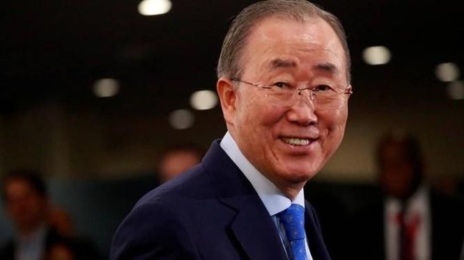 Cựu tổng thư ký Liên Hợp Quốc Ban Ki-moon tại New York, Mỹ, hồi tháng 9/2019. Ảnh: Reuters.