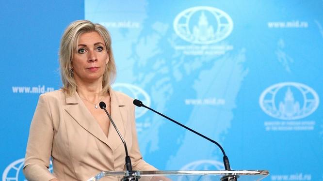 Phát ngôn viên Bộ Ngoại giao Nga Maria Zakharova (Ảnh: Sputnik)