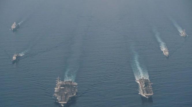 Quân đội Mỹ đã triển khai lực lượng hùng hậu tới châu Á-Thái Bình Dương để ngăn chặn một cuộc xâm lược Đài Loan (Ảnh: Handout)