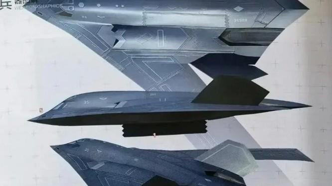 Số ra mới nhất của một tạp chí quốc phòng Trung Quốc có ảnh đồ họa của máy bay Xian H-20 (Ảnh: Weibo)