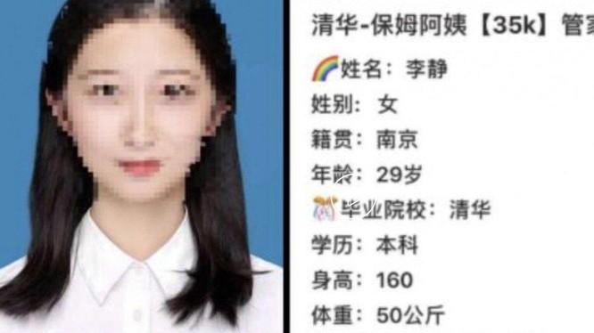 Một cử nhân tốt nghiệp trường đại học hàng đầu phải đi dạy gia sư khiến nhiều cư dân mạng Trung Quốc băn khoăn (Ảnh: Handout)