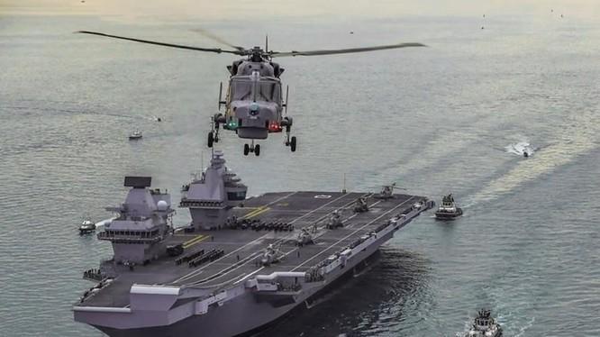 Nhóm tác chiến tàu sân bay HMS Queen Elizabeth của Anh (Ảnh: SCMP)