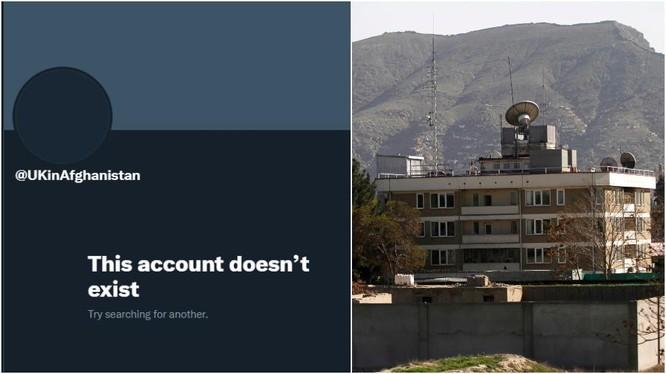 Tài khoản Twitter của Đại sứ quán Anh ở Afghanistan không còn tồn tại (Ảnh: Reuters)