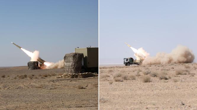 Iran thử nghiệm thành công hệ thống tên lửa phòng thủ mới (Ảnh: RT)