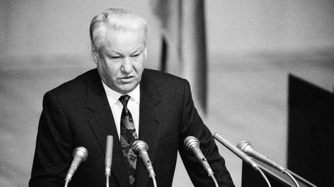 Tổng thống LB Nga lúc bấy giờ, Boris Yeltsin (Ảnh: TASS)