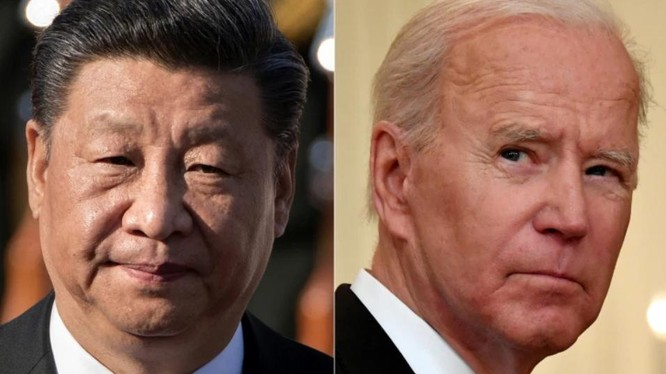 Chủ tịch Tập Cận Bình và Tổng thống Joe Biden có cú điện đàm đầu tiên sau gần 7 tháng (Ảnh: AFP)
