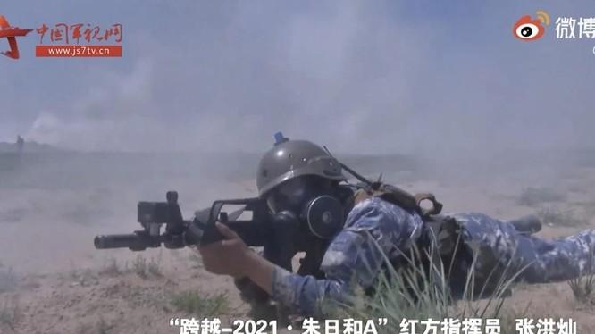 Hình ảnh trong cuộc tập trận tổ chức tại căn cứ Zhurihe được CCTV phát lại (Ảnh: Handout)