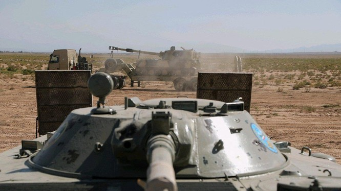 Iran diễn tập quân sự quy mô lớn tại khu vực biên giới đang căng thẳng với Azerbaijan (Ảnh: DailySabah)