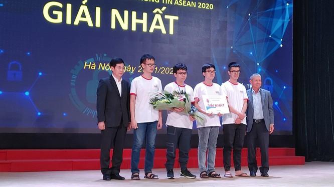 Đội thi HCMUS.Twice đến từ trường Đại học Khoa học tự nhiên – ĐHQG TP.HCM giành ngôi vô địch cuộc thi Sinh viên với An toàn thông tin ASEAN 2020.