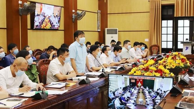 Tỉnh Thanh Hóa triển khai Hội nghị trực tuyến về công tác phòng, chống dịch COVID-19. Ảnh: thanhhoa.gov.vn