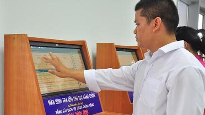 Tỷ lệ dịch vụ công trực tuyến mức 4 được cung cấp trung bình trên cả nước mới đạt 37,43%. Ảnh minh họa: mic.gov.vn.
