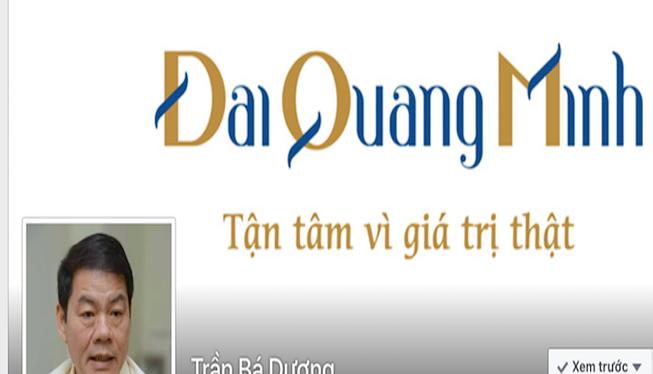 Trang facebook được cho là của ông Trần Bá Dương