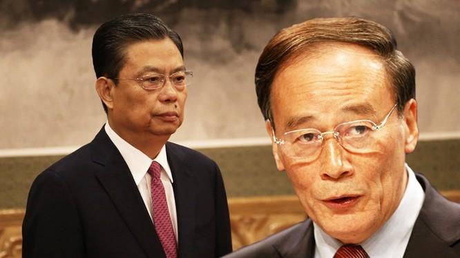 Ông Triệu Lạc Tế (trái) nhận gánh nặng từ người tiền nhiệm Vương Kỳ Sơn
