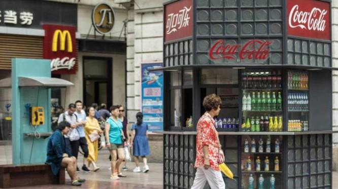 Hàng hóa Mỹ có mặt khắp nơi ở Trung Quốc.