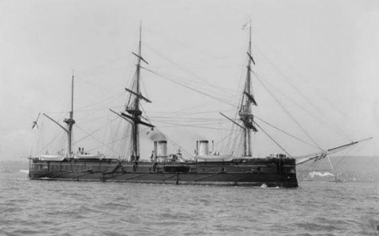 Con tàu Dmitrii Donskoi trước khi bị chìm.