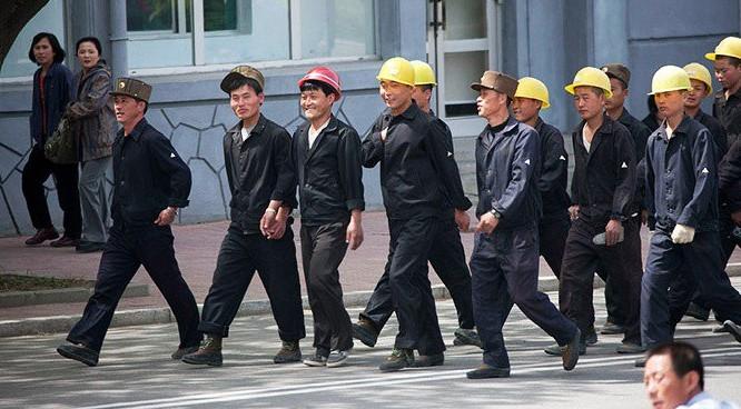 Người lao động Triều Tiên ở Nga.