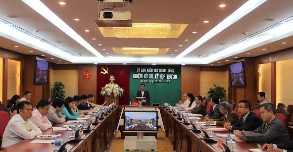 Từ ngày 17 đến 19/10/2018, tại Hà Nội, Ủy ban Kiểm tra Trung ương đã họp kỳ 30