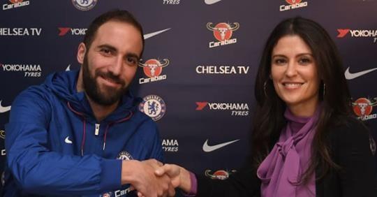 Gonzalo Higuain gia nhập Chelsea theo dạng cho mượn đến hết mùa bóng kèm điều khoản gia hạn thêm 01 năm hoặc mua đứt.