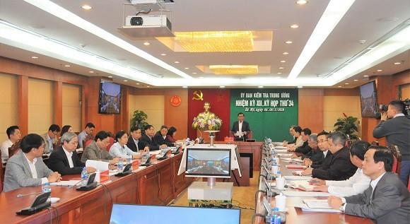 Kỳ họp 34 của UBKT TƯ