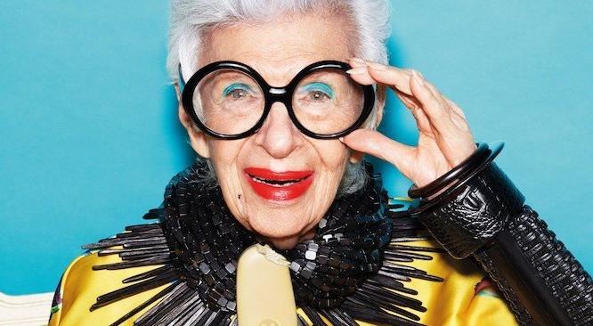 """Cụ bà Iris Apfel đã được xem là """"nữ hoàng trị vì phong cách thời trang"""" New York từ những năm 1950."""