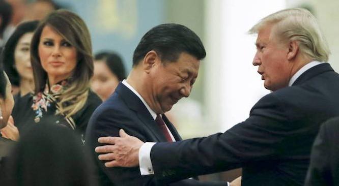 Chủ tịch Trung Quốc Tập Cận Bình và Tổng thống Mỹ Donald Trump.