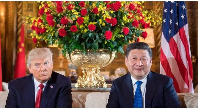 Tổng thống Trump và Chủ tịch Tập Cận Bình tại Mar-a-Lago (Ảnh: Jim Watson—AFP)
