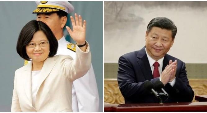 Tổng thống Đài Loan Thái Anh Văn và Chủ tịch Trung Quốc Tập Cận Bình (Ảnh: Reuters)