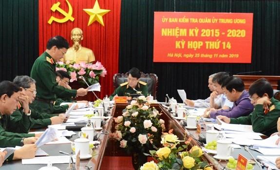 Ủy ban kiểm tra Quân ủy Trung ương tổ chức kỳ họp thứ 14.