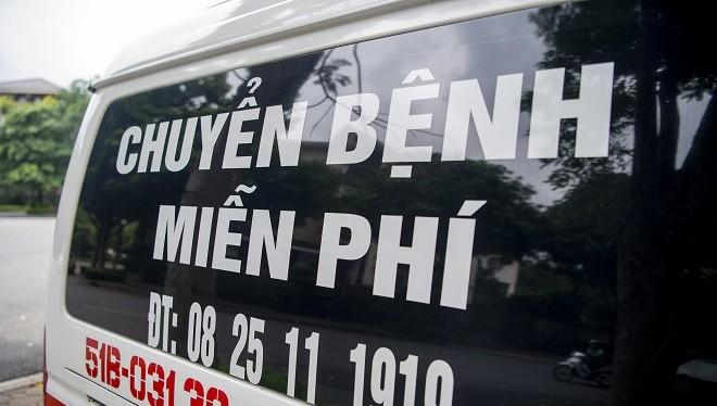Những chuyến xe chở bệnh nhân nghèo miễn phí.