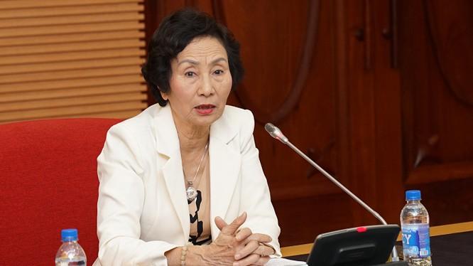 PGS TS Bùi Thị An - Phó Chủ tịch Liên hiệp các hội Khoa học và Kỹ thuật Hà Nội