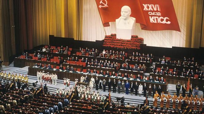 Đại hội lần thứ 26 ĐCS Liên Xô: không ai có thể nghĩ được rằng chỉ hơn 10 năm sau đó nó đã xụp đổ (Ảnh: Internet)