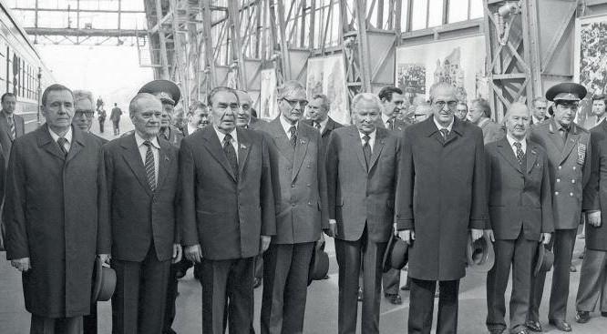 Các thành viên Bộ Chính trị và BCH TƯ Đảng CS LX năm 1981.