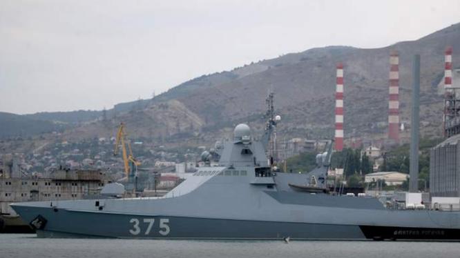 Tàu thuộc Hạm đội Biển Đen của quân đội Nga (Ảnh: Internet)