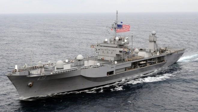 Soái hạm USS Blue Ridge. Ảnh:Hải quân Mỹ