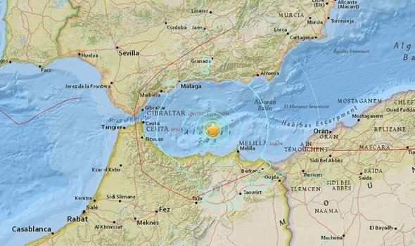 Tâm chấn của trận động đất (ảnh: IG)