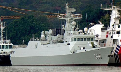 Tàu hộ vệ tên lửa Type 056A Kinh Môn 506 của Trung Quốc. Ảnh: Tiexue.net