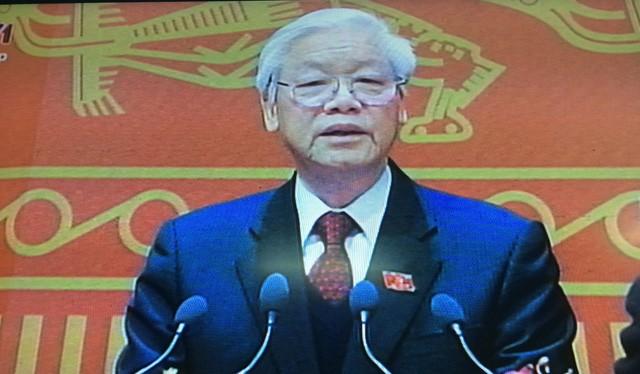 Tổng Bí thư Nguyễn Phú Trọng phát biểu tại Đại hội
