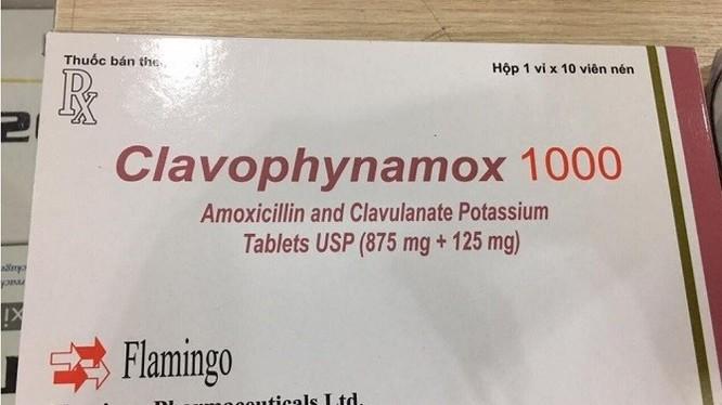Viên nén bao phim Clavophynamox 1000